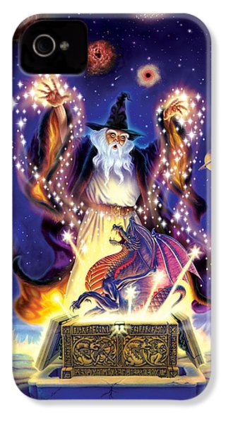 Wizard Dragon Spell IPhone 4 / 4s Case by Andrew Farley