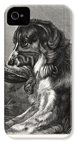 Woodcock-shooting, Hunt, Hunting, Dog IPhone 4 Case by English School