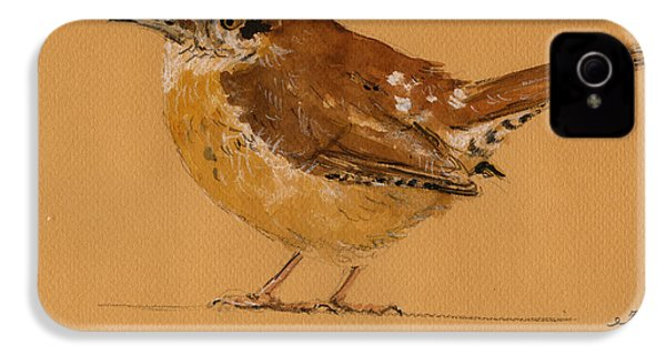 Wren Bird IPhone 4 Case by Juan  Bosco