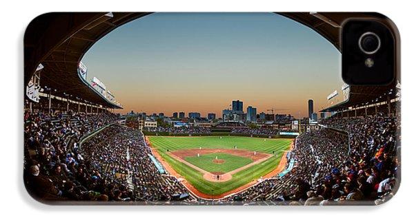 Wrigley Field Night Game Chicago IPhone 4 / 4s Case by Steve Gadomski
