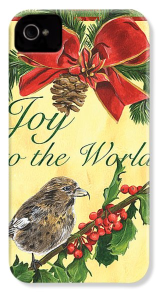 Xmas Around The World 2 IPhone 4 Case by Debbie DeWitt
