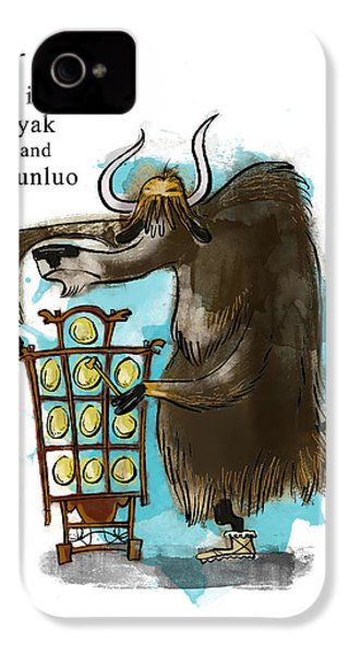 Y Is For Yak IPhone 4 Case by Sean Hagan