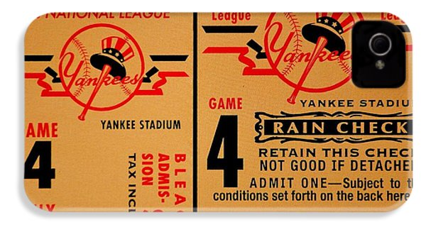 Yankees 4th Straight - Vintage IPhone 4 Case by Benjamin Yeager