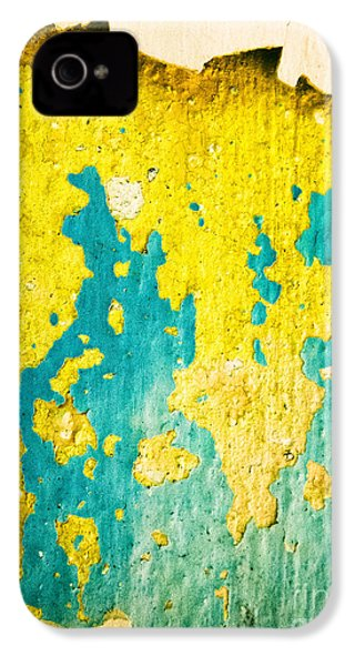 IPhone 4 Case featuring the photograph Yellow And Green Abstract Wall by Silvia Ganora