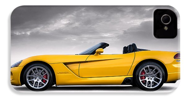 Yellow Viper Roadster IPhone 4 Case by Douglas Pittman