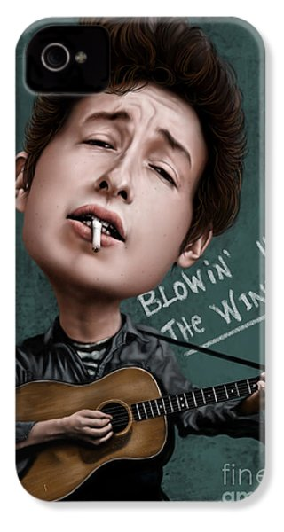 Young Bob Dylan IPhone 4 Case by Andre Koekemoer