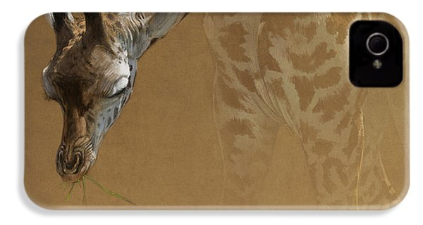 Young Giraffe IPhone 4 / 4s Case by Aaron Blaise