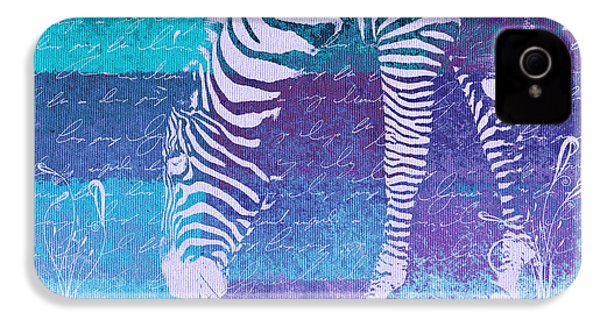 Zebra Art - Bp02t01 IPhone 4 / 4s Case by Variance Collections