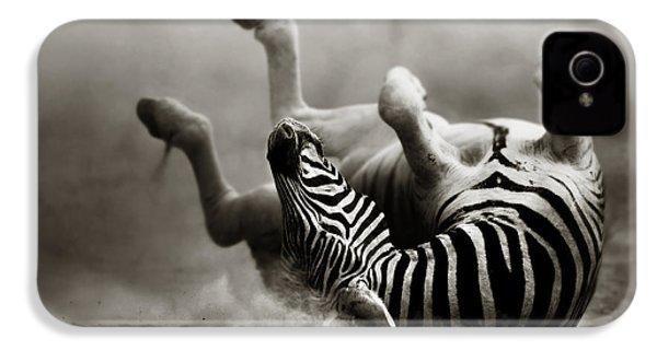 Zebra Rolling IPhone 4 / 4s Case by Johan Swanepoel