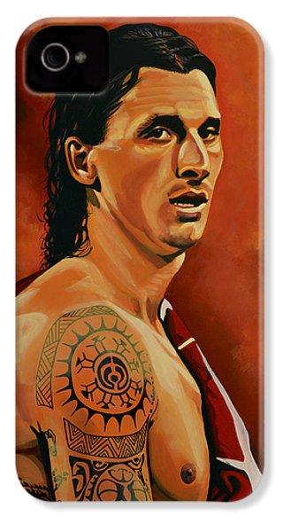 Zlatan Ibrahimovic Painting IPhone 4 Case by Paul Meijering