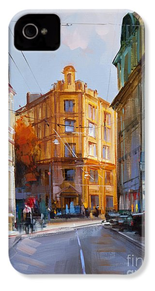 Zlatoustinskiy Alley.  IPhone 4 Case by Alexey Shalaev