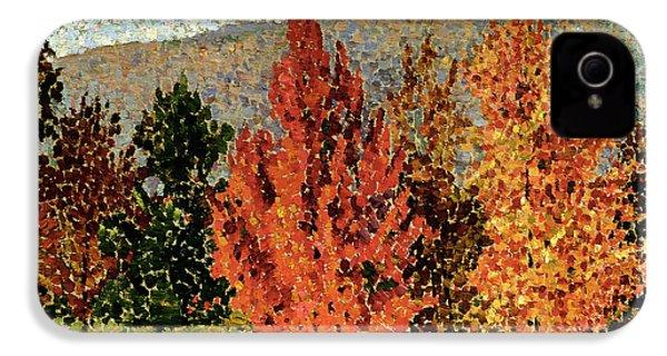 Autumn Landscape IPhone 4 Case by Henri-Edmond Cross
