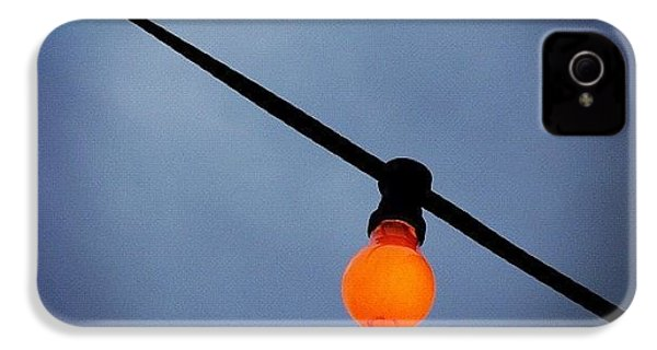 Orange Light Bulb IPhone 4 Case by Matthias Hauser