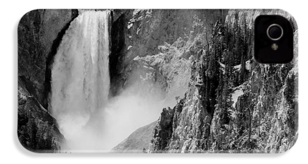 Yellowstone Waterfalls In Black And White IPhone 4 Case
