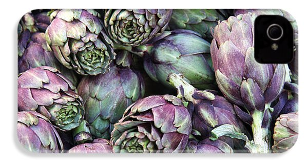 Background Of Artichokes IPhone 4 / 4s Case by Jane Rix