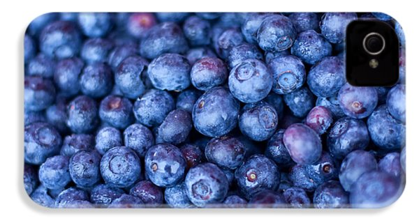 Blueberries IPhone 4 Case by Tanya Harrison