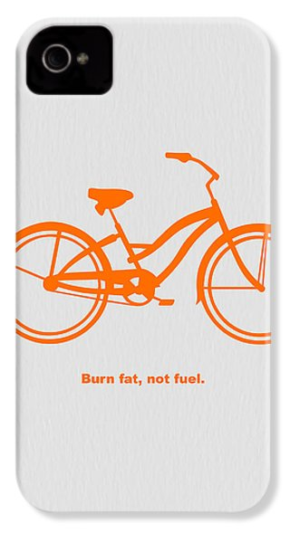 Burn Fat Not Fuel IPhone 4 / 4s Case by Naxart Studio
