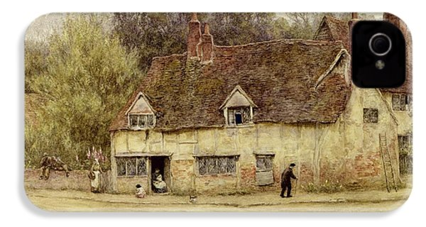 By The Old Cottage IPhone 4 / 4s Case by Helen Allingham