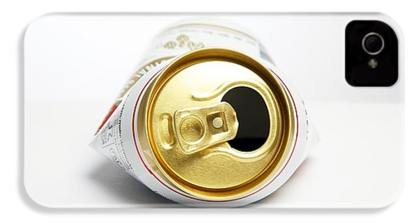 Crushed Beer Can IPhone 4 Case by Victor De Schwanberg