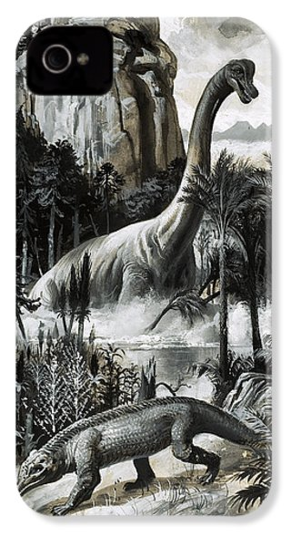 Dinosaurs IPhone 4 Case by Roger Payne