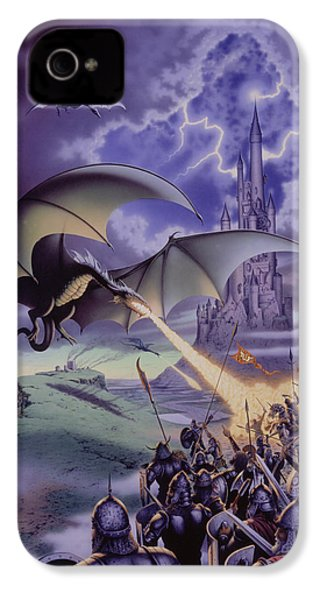 Dragon Combat IPhone 4 Case by The Dragon Chronicles - Steve Re