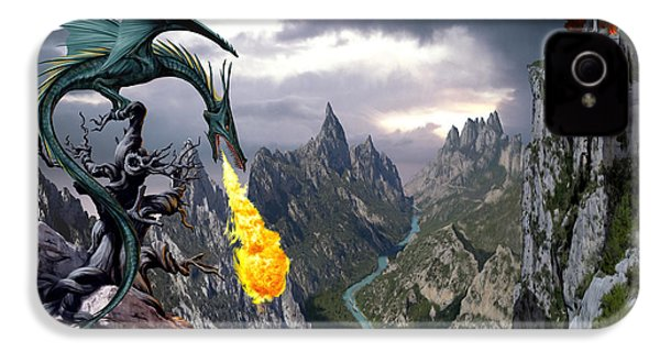 Dragon Valley IPhone 4 / 4s Case by The Dragon Chronicles - Garry Wa