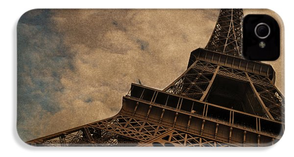 Eiffel Tower 2 IPhone 4 Case by Mary Machare