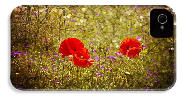 IPhone 4 Case featuring the photograph English Summer Meadow. by Clare Bambers - Bambers Images