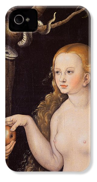 Eve Offering The Apple To Adam In The Garden Of Eden And The Serpent IPhone 4 / 4s Case by Cranach