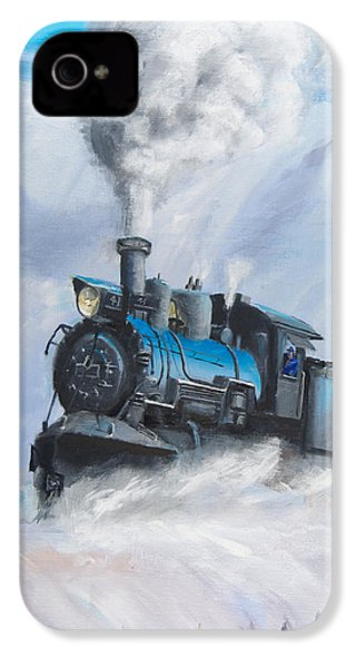 First Train Through IPhone 4 Case by Christopher Jenkins