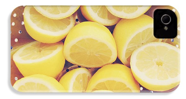 Fresh Lemons IPhone 4 Case by Amy Tyler