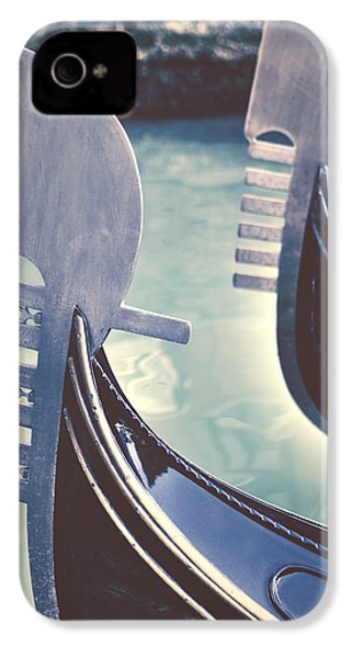 gondolas - Venice IPhone 4 Case by Joana Kruse