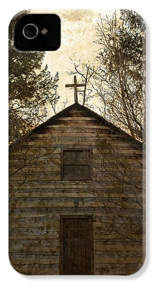 Grungy Hand Hewn Log Chapel IPhone 4 Case by John Stephens