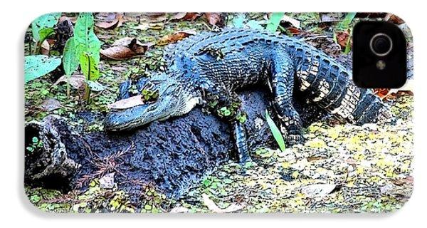 Hard Day In The Swamp - Digital Art IPhone 4 / 4s Case by Carol Groenen