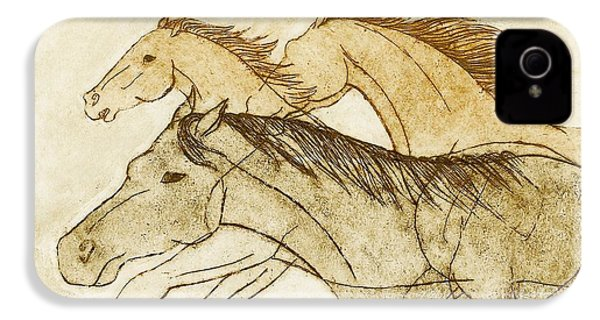 IPhone 4 Case featuring the drawing Horse Sketch by Nareeta Martin