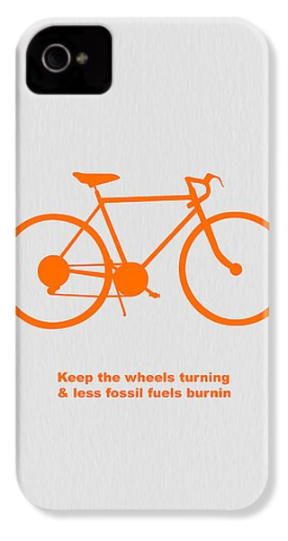 Keep The Wheels Turning IPhone 4 / 4s Case by Naxart Studio