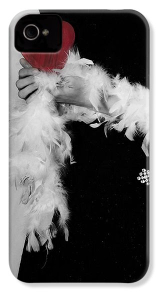 Lady With Heart IPhone 4 / 4s Case by Joana Kruse