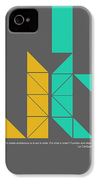 Le Corbusier Quote Poster IPhone 4 Case by Naxart Studio
