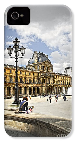 Louvre Museum IPhone 4 Case by Elena Elisseeva