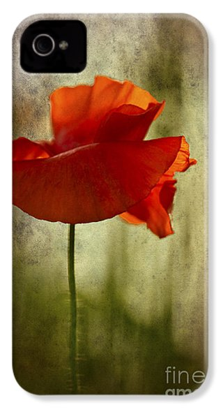 IPhone 4 Case featuring the photograph Moody Poppy. by Clare Bambers - Bambers Images