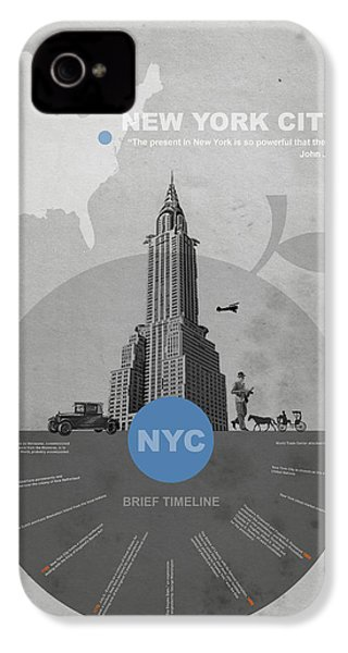 Nyc Poster IPhone 4 Case by Naxart Studio