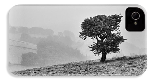 IPhone 4 Case featuring the photograph Oak Tree In The Mist. by Clare Bambers