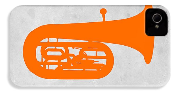 Orange Tuba IPhone 4 Case by Naxart Studio