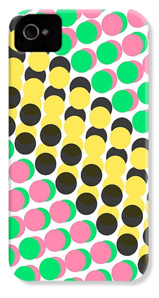 Overlayed Dots IPhone 4 Case by Louisa Knight