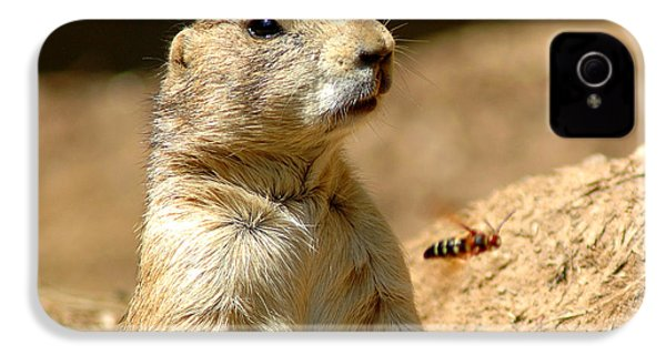 Prarie Dog Bee Alert IPhone 4 / 4s Case by LeeAnn McLaneGoetz McLaneGoetzStudioLLCcom