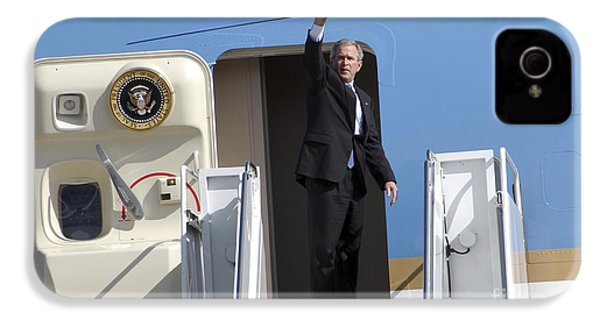 President George Bush Waves Good-bye IPhone 4 / 4s Case by Stocktrek Images