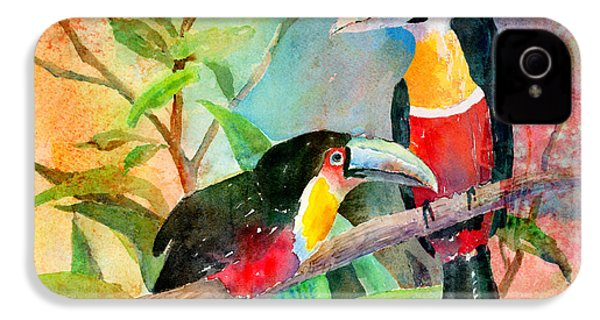 Red-breasted Toucans IPhone 4 Case by Arline Wagner