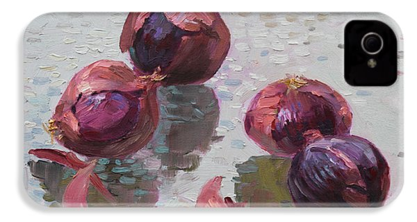 Red Onions IPhone 4 Case by Ylli Haruni