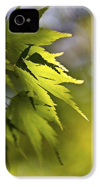 IPhone 4 Case featuring the photograph Shades Of Green And Gold. by Clare Bambers
