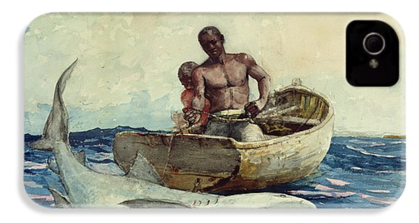 Shark Fishing IPhone 4 / 4s Case by Winslow Homer